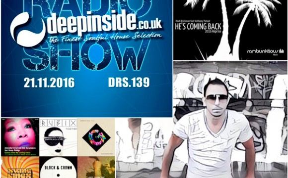 DEEPINSIDE RADIO SHOW 139 (DJ Mark Brickman Artist of the week)