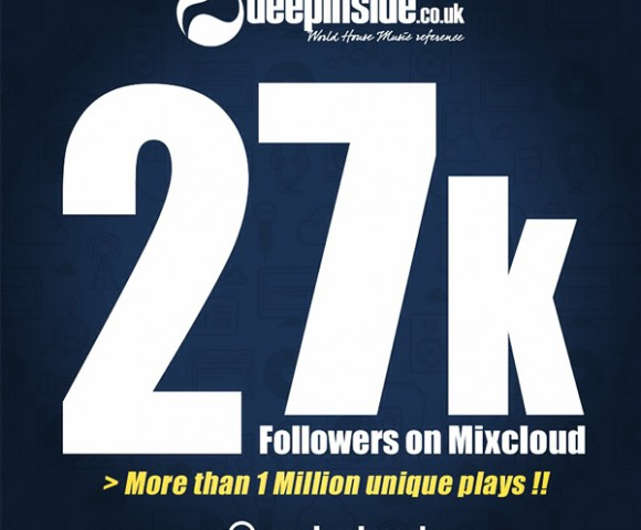 MIXCLOUD^27.000 followers !! Huge thanks